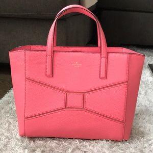 Kate Spade NWOT Bow Handbag Tote Purse Coral Pink